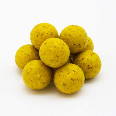 BAT-Tackle Böse Boilies im Realistric® Eimer, 2,5 kg, 18mm, Banana & Toffee - yellow