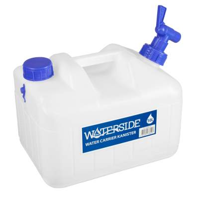 Waterside Water Carrier Kanister Weiß, 10 Liter