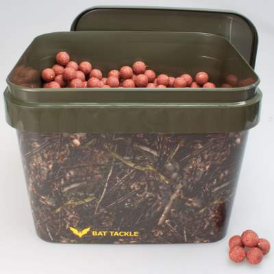 BAT-Tackle Böse Boilies im Realistric® Eimer, 5,0kg, 18mm, Angry Strawberry