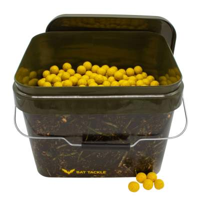 BAT-Tackle Böse Boilies im Realistric® Eimer, 5,0kg, 18mm, Banana & Toffee - yellow