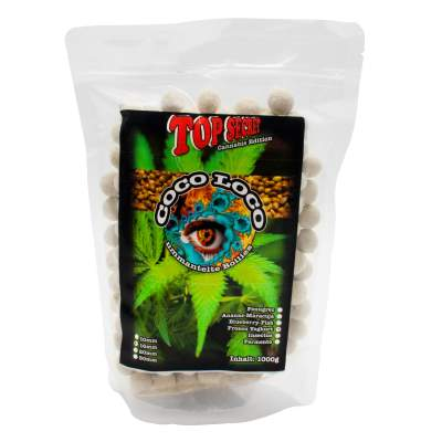 Top Secret Cannabis Edition Coco Loco 16mm 1kg Frozen Yoghurt, Boilies ummantelt - weiss