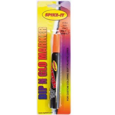 Spike-It Dip-N-Glo Marker Farbstift für Gummifische Crawfish orange