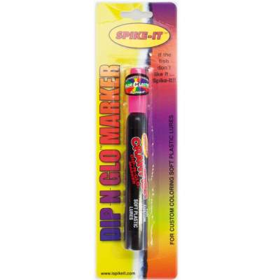 Spike-It Dip-N-Glo Marker Farbstift für Gummifische Crawfish Hot Pink