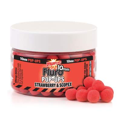 Dynamite Baits Strawberry Scopex  Fluo Pop- Up Boilies 10mm