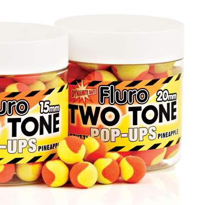 Dynamite Baits Tutti Frutti & Pineapple Fluro Two Tone Pop- Up Boilies 20mm