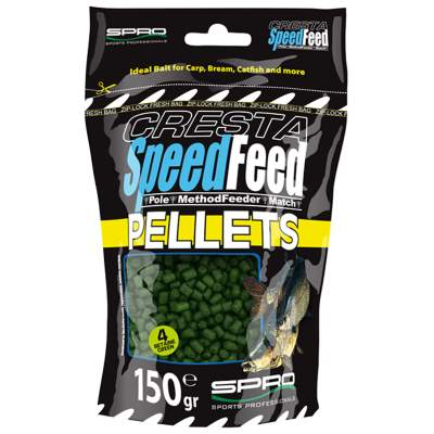 SPRO Cresta Speedfeed Power Pellets Green Betaine 4mm