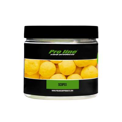 Pro line Readymades Coated Hookbaits Core Boilies, Scopex - gelb - 200ml - 20mm