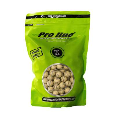Pro line High Instant Readymades Boilies, Squid & Garlic - weiß - 1kg - 15mm