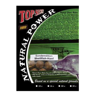 Top Secret Natural Power Boilies Sonderedition 20mm Shellfisch/Hanf 1kg,