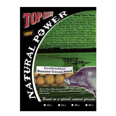 Top Secret Natural Power Boilies Sonderedition 20mm Banane/Cocos/Hanf 3kg,