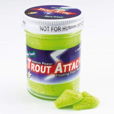 Top Secret Amino Trout Attac Forellenteig schwimmend Chartreuse