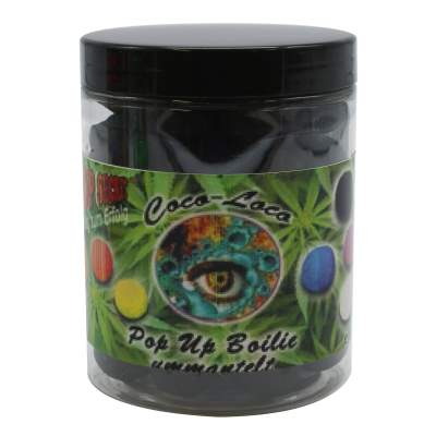 Top Secret Cannabis Edition Coco-Loco Fluo Pop-Ups, Fermento 10,16,20mm gemischt schwarz 100g