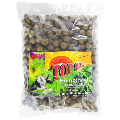 Top Secret Cannabis-Edition Feeding Boilies 18mm Hemp 3Kg Futter Boilie