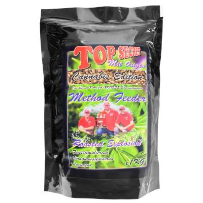 Top Secret Cannabis-Edition Method Feeder Mix mit Oxigen Roasted Hemp Explosion 1Kg Feeder Futter