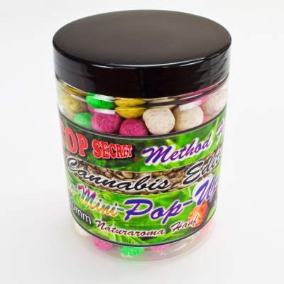 Top Secret Cannabis-Edition Method Feeder Mini Fluo Pop Up Boilies 10mm 80g Boilie