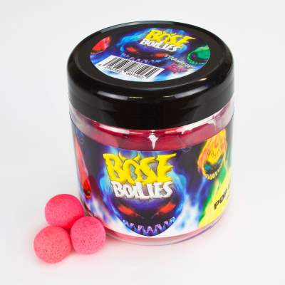 BAT-Tackle Böse Boilies Fluo Pop Ups Pop-Up Boilie, 50g - 15mm - Strawberry - fluo pink