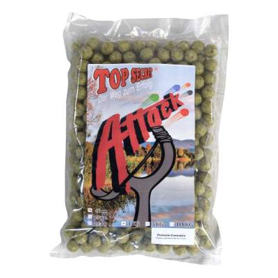 Top Secret Attack Boilies, Pistsazie-Cannabis 16mm grün 1 kg