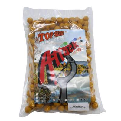 Top Secret Attack Boilies Reife Banane 16 mm 1 kg,