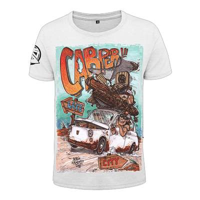Hotspot Design T-Shirt Carper Angelshirt, weiß - Gr. XL
