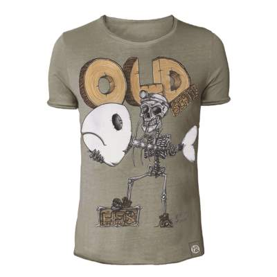 Hotspot Design Vintage T-Shirt Old School 2.0, braun - Gr. XL