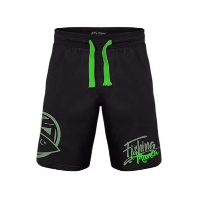 Hotspot Design Sweatshort Fishing Mania green Jogginghose, schwarz, L
