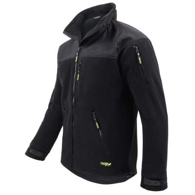 Legendfossil Fleecejacke Visby, black grey, Gr. XXL