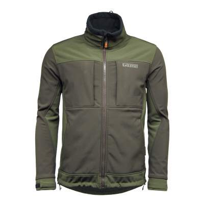 Game Jacke HB210 Viper Softshell Waterproof, Gr. M - grau/grün