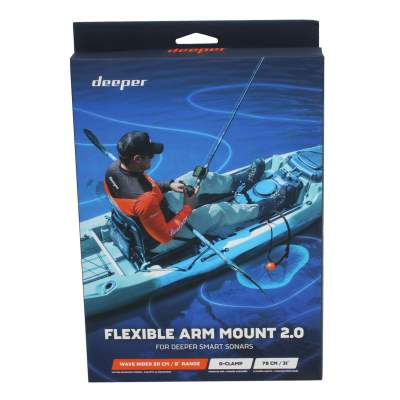 Deeper Flexible Arm Mount 2.0 für Deeper Smart Sonar Geberstange, Deeper Flexibler Montagearm - Flexible Arm Mount 2.0
