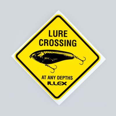 Illex Sticker Lure Crossing (Aufkleber) - gelb 9cm