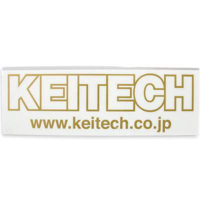 Keitech Logo Cutting Sticker (Aufkleber) - gold 30cm