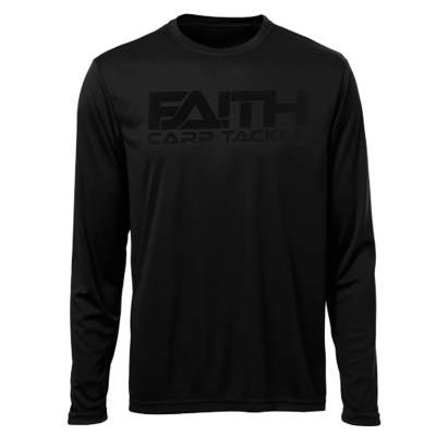 Faith Long Sleeve Shirt Black L, Gr. L