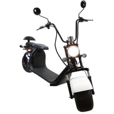 elektro scooter mit stra enzulassung e roller chopper 35km. Black Bedroom Furniture Sets. Home Design Ideas