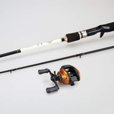 Roy Fishers Deluxe Baitcast Set mit Shimano Rolle