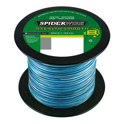 Spiderwire Stealth Smooth 8, Blue Camo - TK46,3kg - 0,39mm - 1m