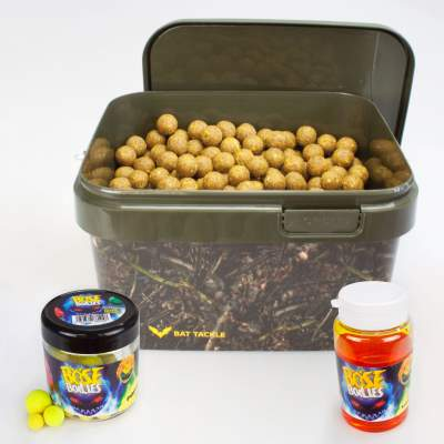 BAT-Tackle Sessionpack Böse Boilies 2,5Kg im Realistric® Eimer 18mm Sexy Scopex + Dip + Pop Ups