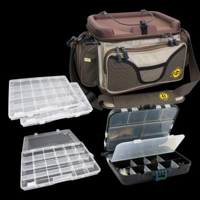 Pro Tackle Gear Bag Force One Angeltaschen Set, inkl. 4 Boxen 45x28x26cm