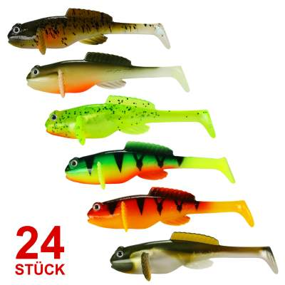 Fox Rage Mega Set Grondle Wobble Grundel Gummifisch 10cm 6 x 4er Pack