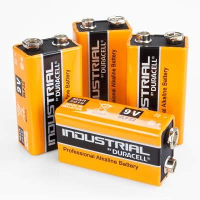 duracell industrial 9v block batterie 6lf22 alkaline 4 st ck. Black Bedroom Furniture Sets. Home Design Ideas