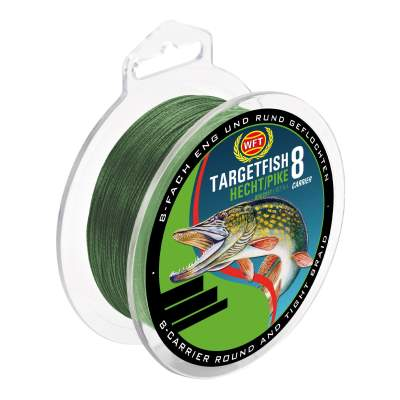WFT Target Fish 8 Carrier Hecht 0,15mm, 150m - 10kg - pike green