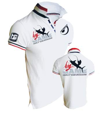 Hotspot Design Polo Shirt Only the Strong Big Game Gr. XXL