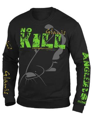 Hotspot Design Hoodie Sweatshirt Cat Fishing Gr. XL