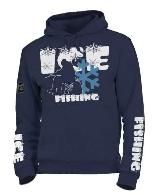 Hotspot Design Hoodie Sweatshirt Ice Fishing Gr. XXL