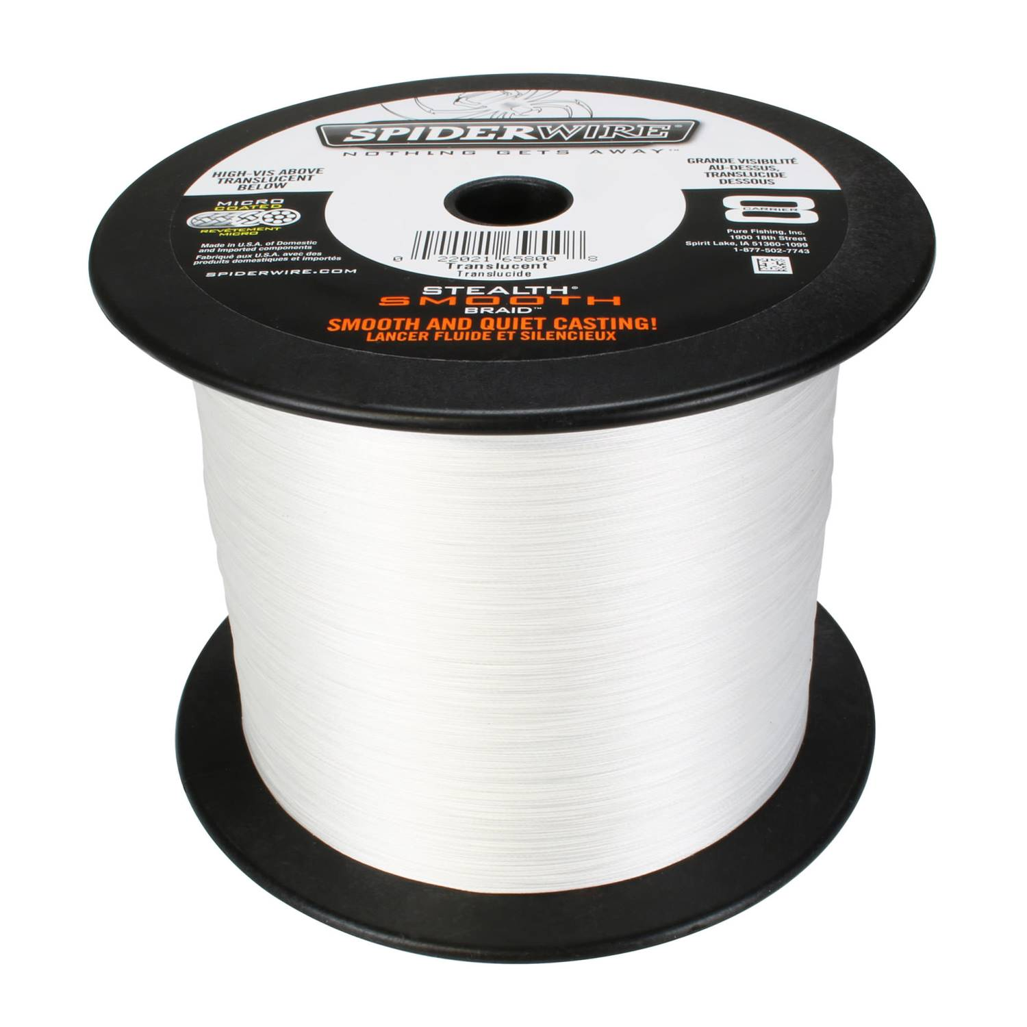Translucent 0,39mm 0,23mm 150m Spiderwire Stealth Smooth 8 New 2020