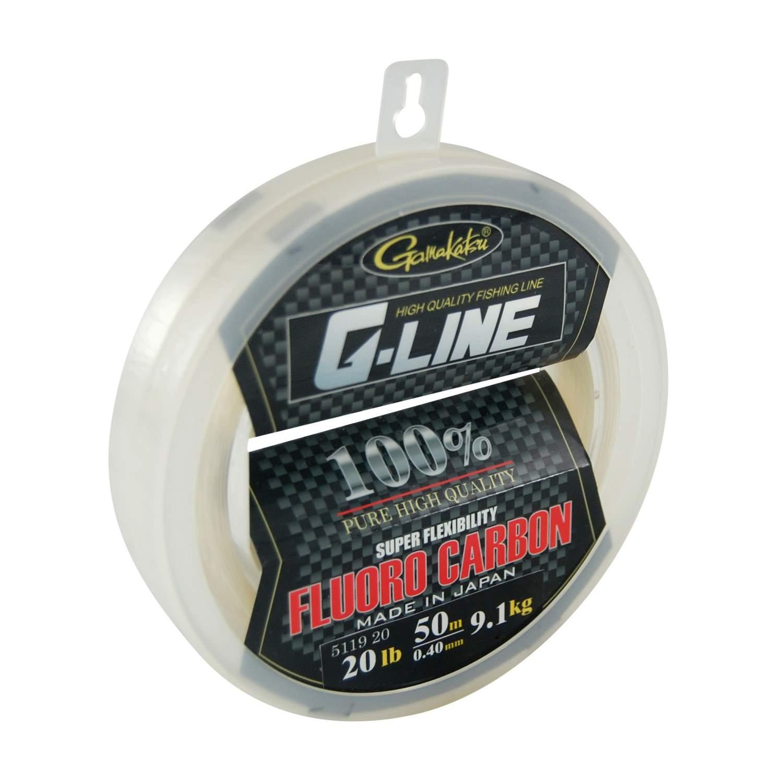 Gamakatsu G-Line Fluorocarbon Big Spool - Made in Japan - Flexibel - 50m
