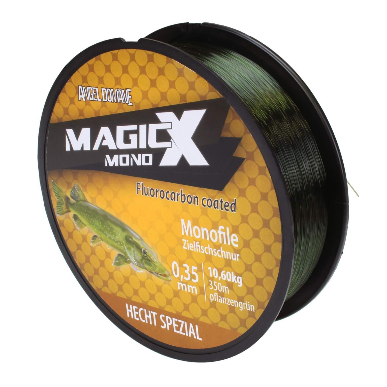 Magic-X Mono Hecht Angelschnur 350m 0,20-0,25mm Monofil Fluorocarbon R 0,02€//m