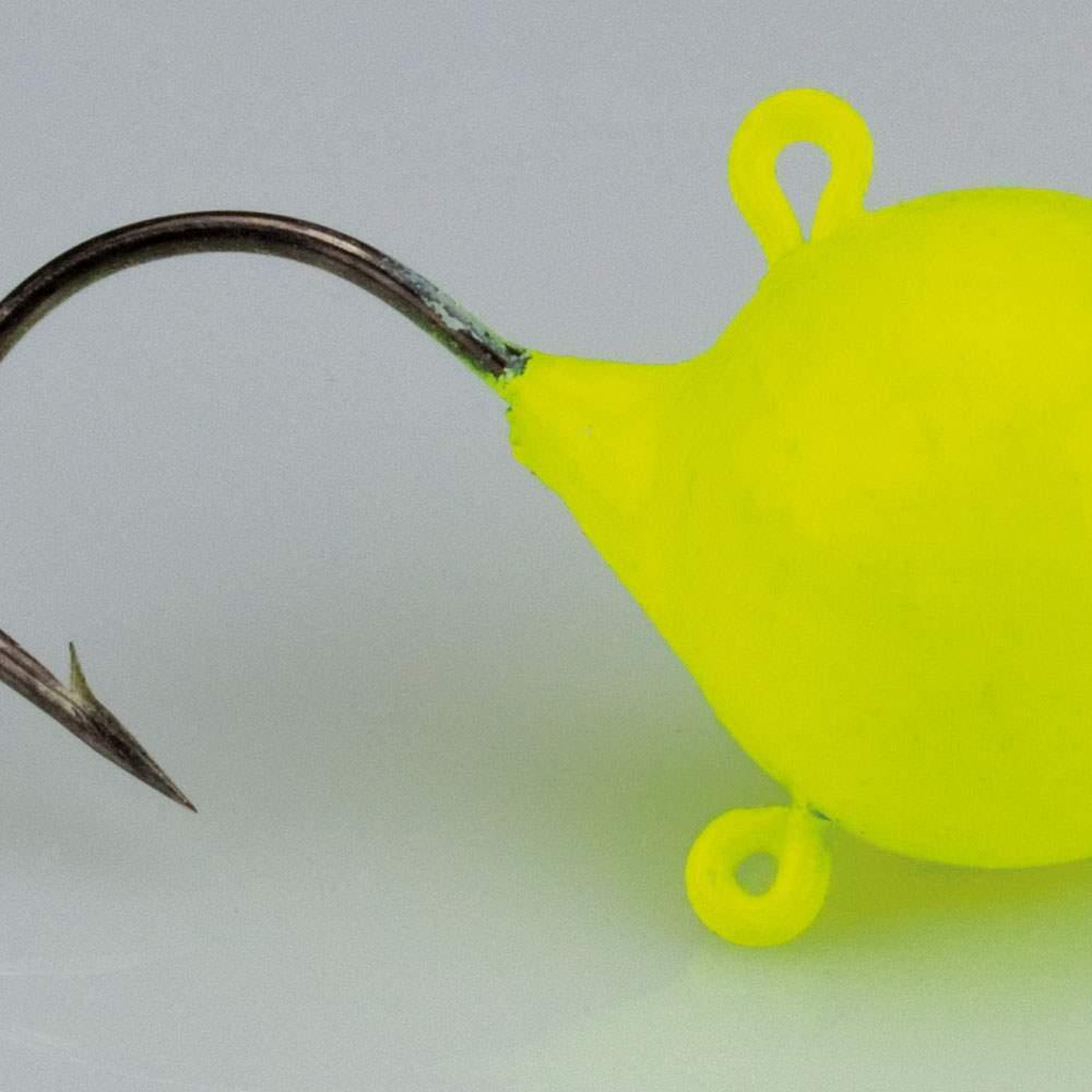 verschiedene Gewichte neongelb Roy Fishers Fireball Jig 5Stück