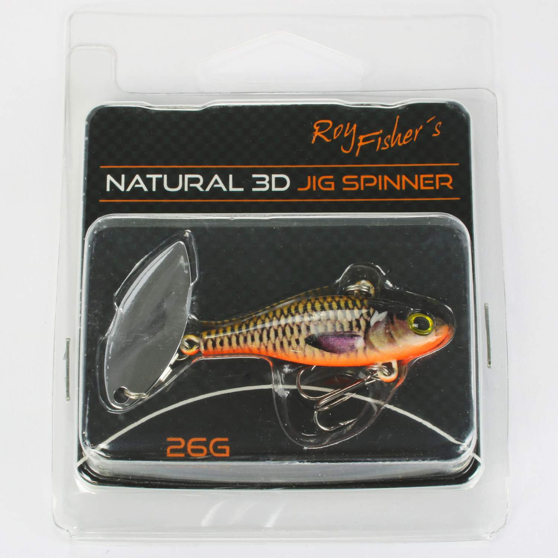 Natural 3d Jig Spinner 26g spinnerbait lures perch chub ASP vertically