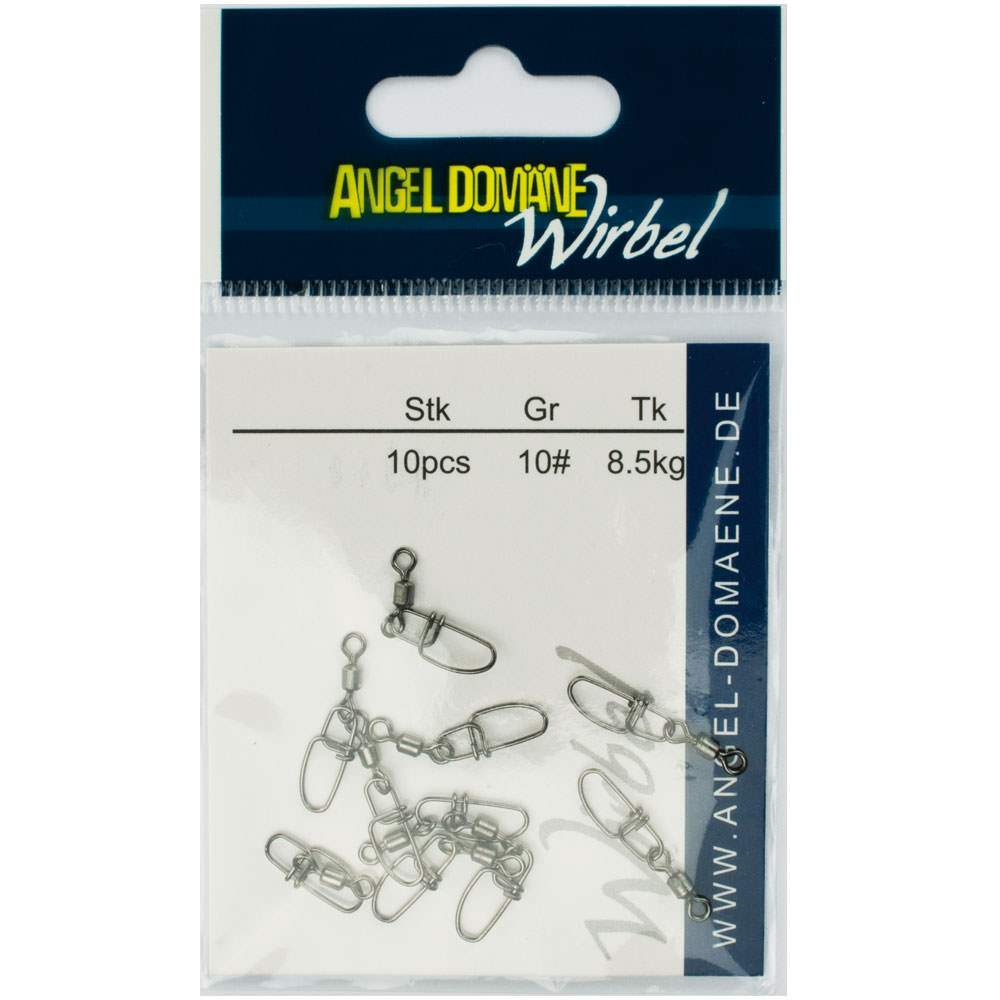 Angel-Domaene-Power-Wirbel-mit-Cross-Lock-Snap-10Stueck