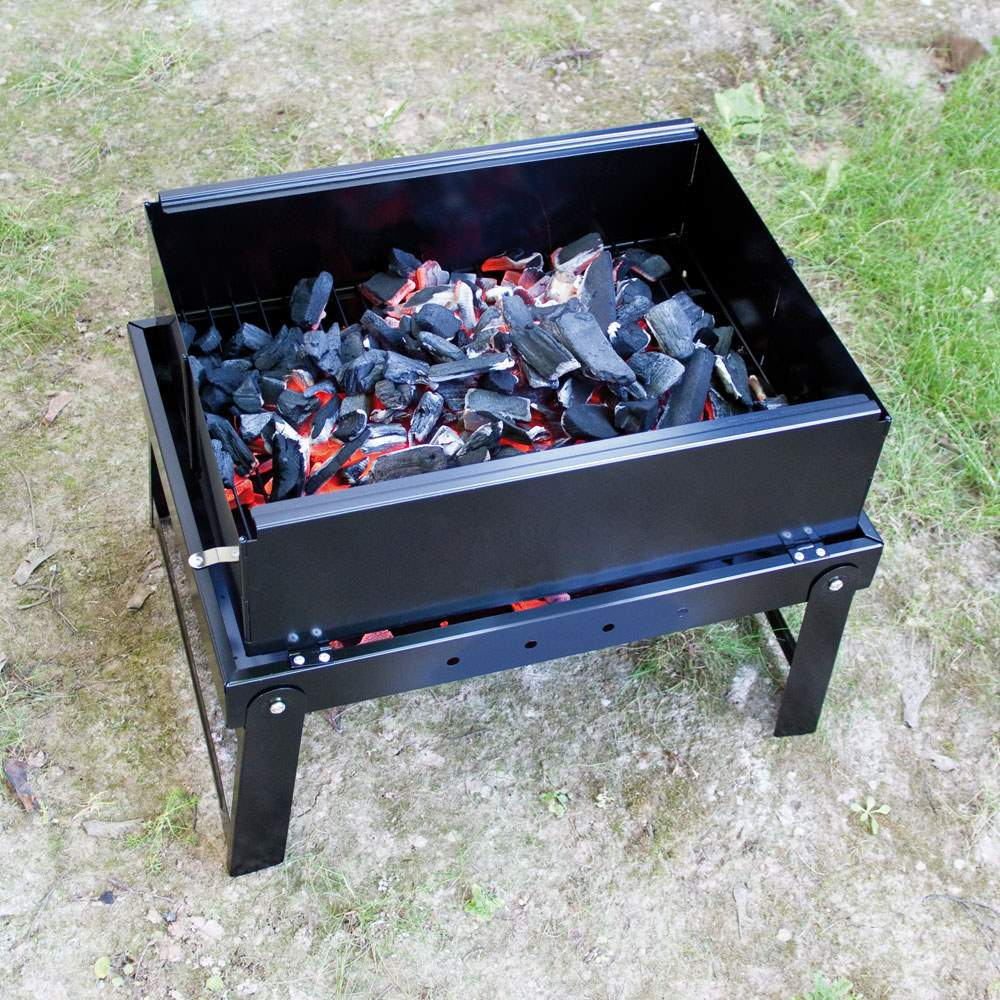 camping holzkohle grill klappgrill angelgrill mobilgrill bbq tischgrill kohle. Black Bedroom Furniture Sets. Home Design Ideas