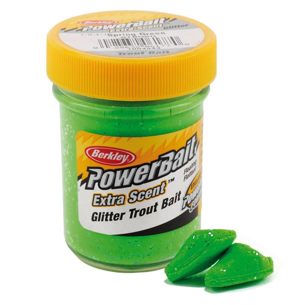 Berkley-Powerbait-Glitter-Forellenteig-Glaeser-Gulp-Trout-Bait-versch-Farben